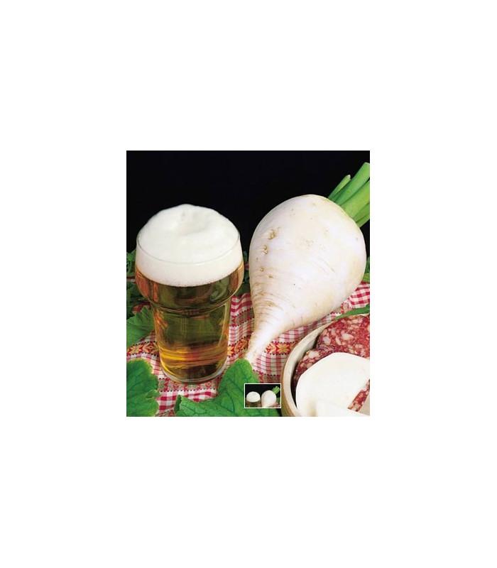 Reďkev polodlhá biela k pivu - semiačka - 0 ks