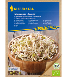 Semená na nakličovanie - Bio fazuľa Mungo - Kiepenkerl - 75 g
