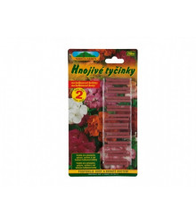 Tyčinkové hnojivo pre pelargónie, surfinie a iné balkónové rastliny - 20 ks